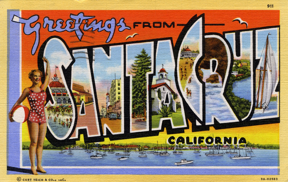 Greetings from santa cruz california large letter postc flickr greetings from santa cruz california large letter postcard by shook photos m4hsunfo