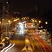 Bismarckallee at night, Freiburg