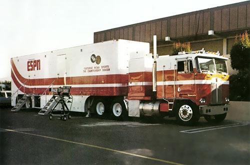 The first ESPN production truck. 1979 | Bill Rasmussen ...