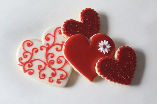 Hand Decorated Valentines Day Heart Cookies Www