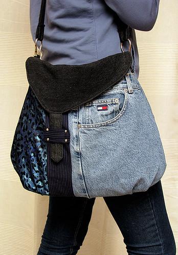 Master Piece Blue X Fdmtl Denim Patchwork Backpack for