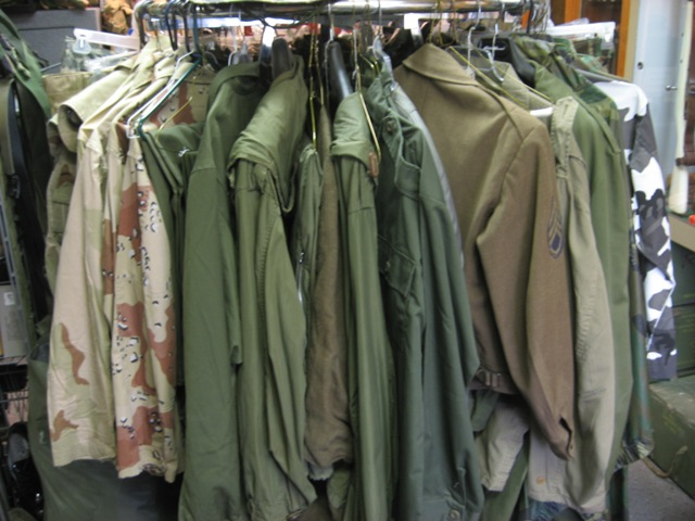 Military surplus uniforms in Louisville Ky army navy store Adams ...