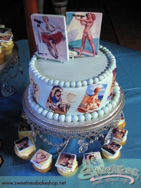 1950 S Pinup Pinup Girls Cake Amp Matching Cupcakes