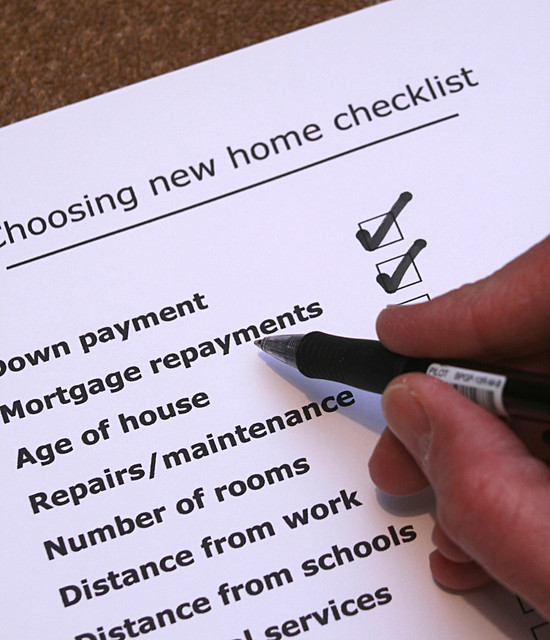 Moving house make a checklist before setting out to buy for Moving into a new build house tips
