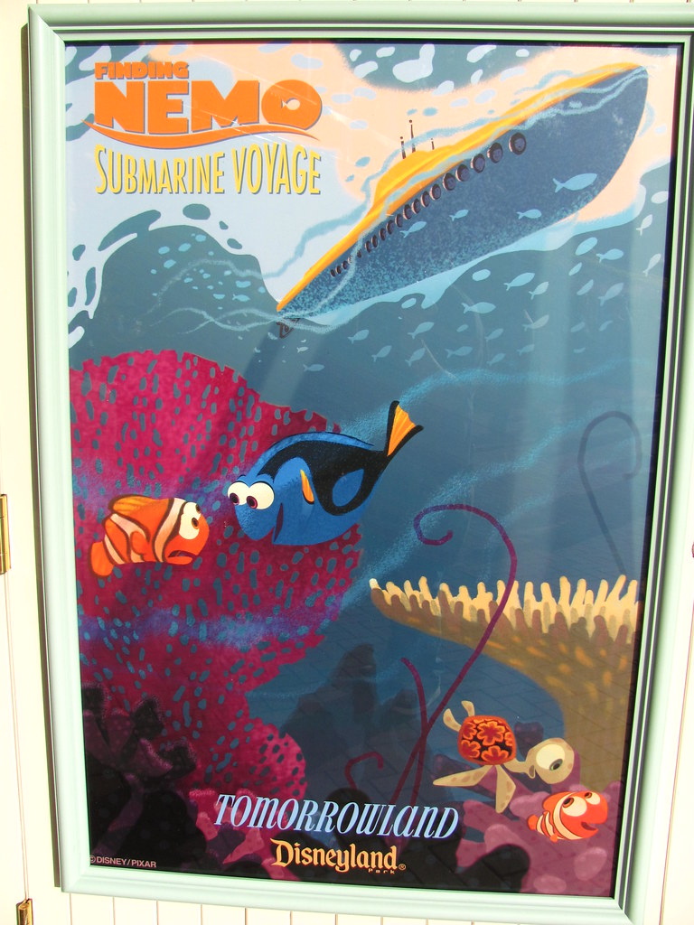 Finding Nemo Submarine Voyage Poster At The Disneyland Mai