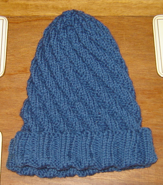 Spiral Socks Knitting Pattern : knit spiral ribbed hat I knitted this for my father in law? Flickr