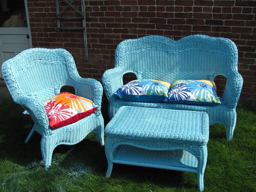 Wicker furniture makeover more info for How to paint rattan patio furniture