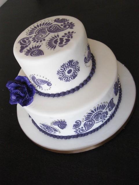 2 Tier Henna Wedding Cake Www Customcakesbyjen Ca Flickr