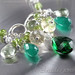 Harmonia - Art Nouveau style green gemstones sterling silver necklace with Agate, Citrine, Prasiolite, Peridot, and Quartz