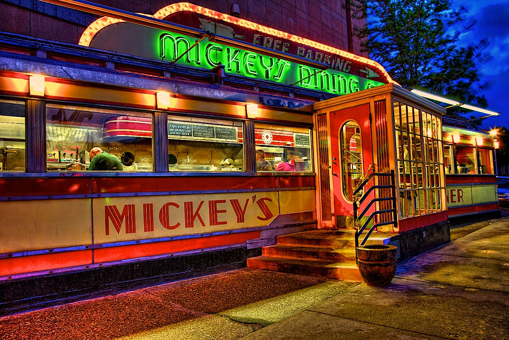 mickey 39 s dining car i saw this by my hotel in st paul and flickr. Black Bedroom Furniture Sets. Home Design Ideas