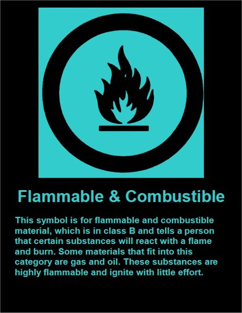 A Combustible Material Readily Ignites At Room Temperature