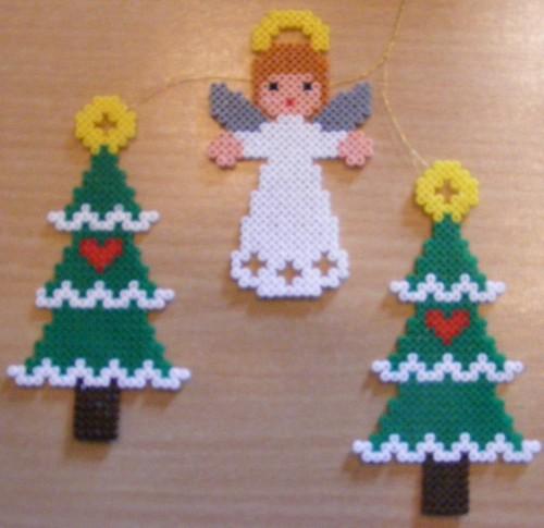christmas trees and angel hama design vivi elsborg flickr. Black Bedroom Furniture Sets. Home Design Ideas