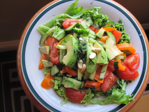 Healthy Salad for Dinner | by veganbackpacker