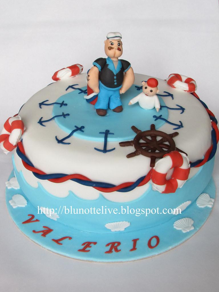 Happy Birthday Popeye Cake