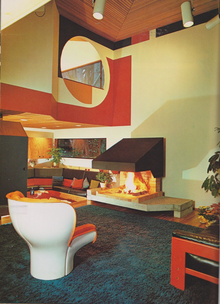 70 39 s interior design a architect wendell h lovett 1970 for Interior design 70s house
