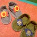felt baby shoes for baby boy and baby girl