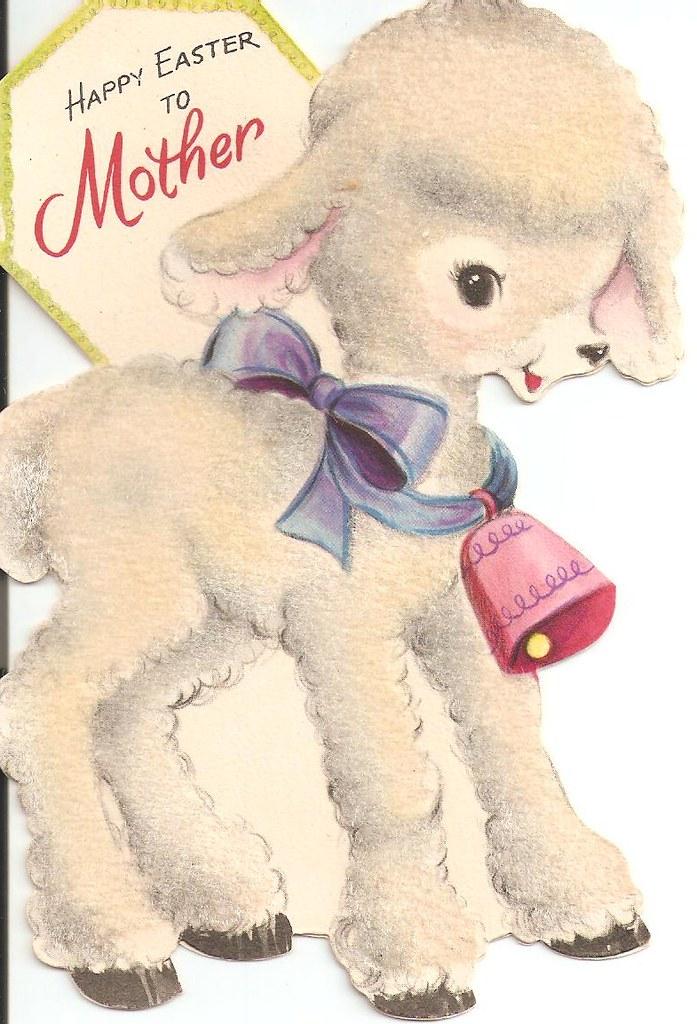 Vintage Lamb Easter Card