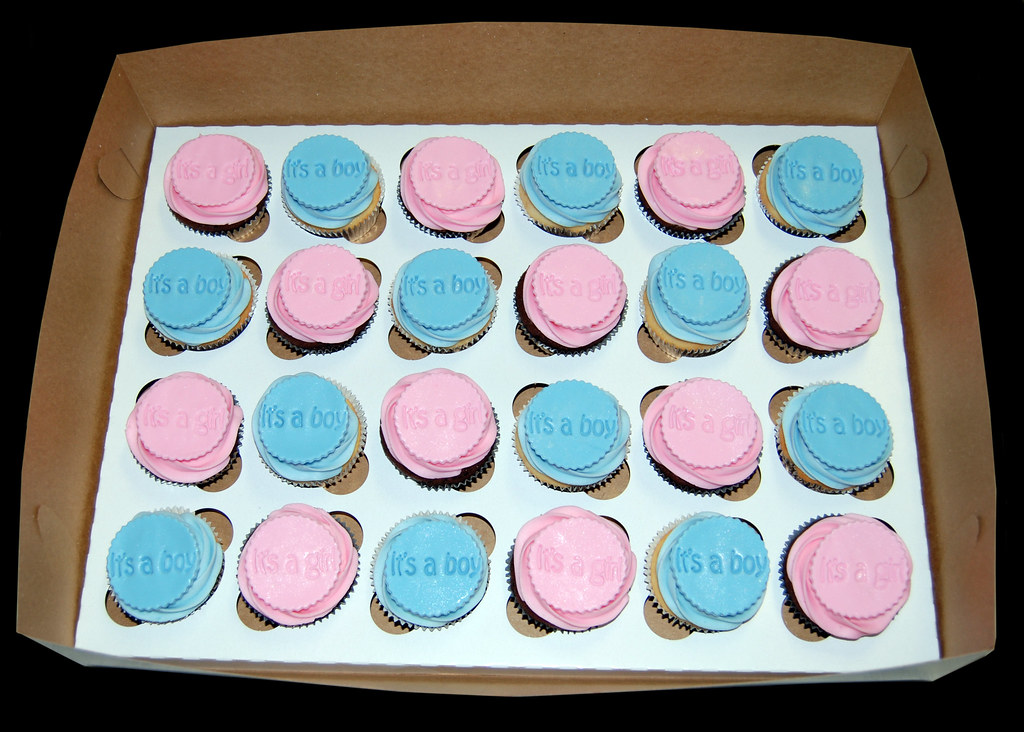 baby shower cupcakes for twins  its a girl and its a boy  flickr, Baby shower invitation