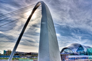 Newcastle/Gateshead Tilting Bridge and Sage HDR | by Ben Christian Photos