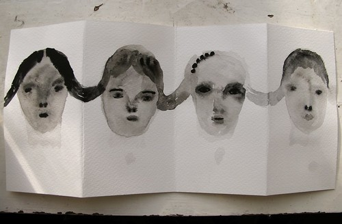 folding book of faces | by cathy cullis