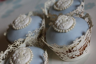 Vintage Pearl & Cameo Cupcakes | by Victoria's Kitchen