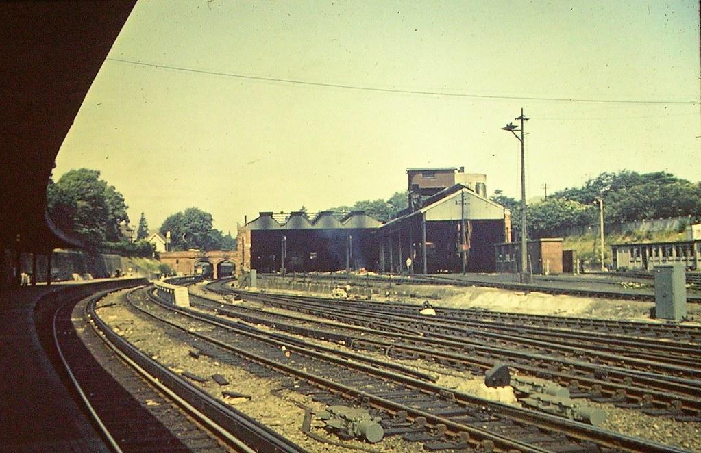 Bournemouth Central Station engine sheds, 1960s | emmdee | Flickr