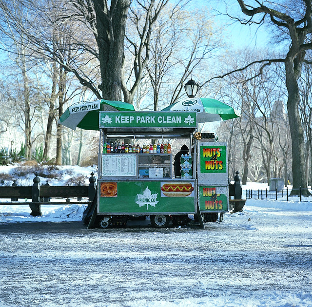 Central Park Hot Dog Stand