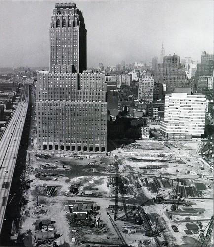 world trade center site in 1966  new york telephone buildi