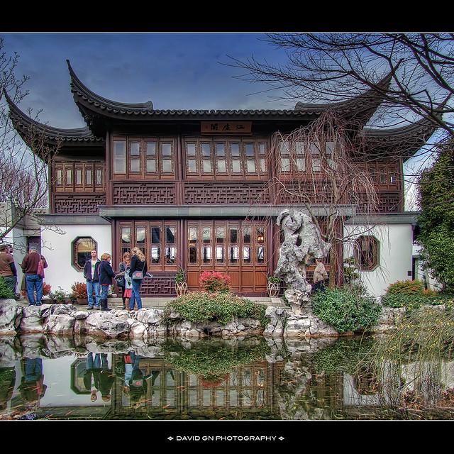 Lan Su Chinese Garden Portland Oregon Hdr Vertorama Flickr