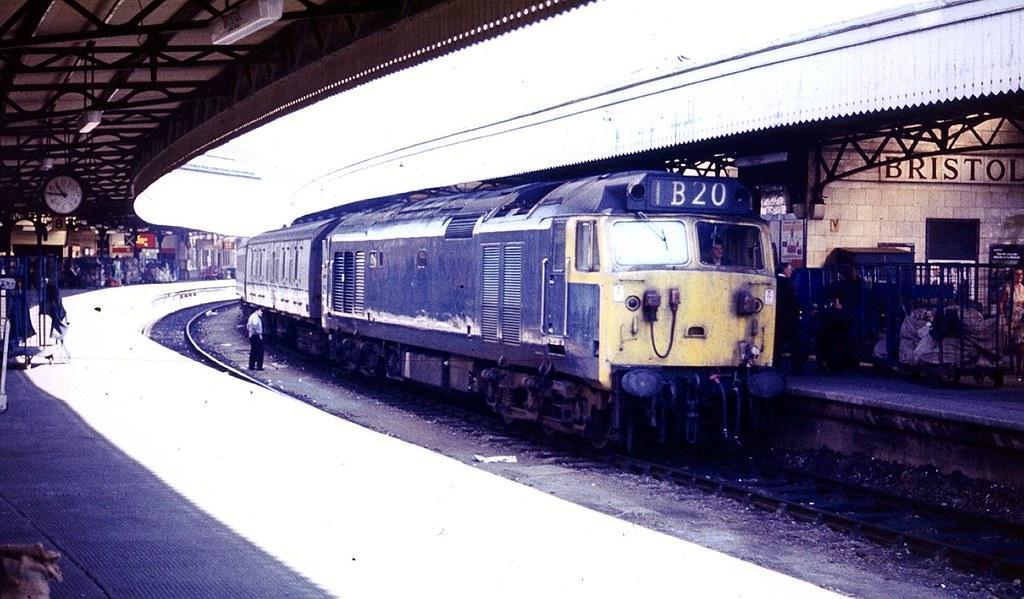 British Rail Class 50 Diesel Locomotive At Bristol Temple