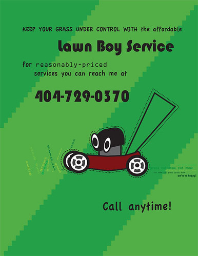 Lawn Mowing Flyer Musicislikeair Flickr