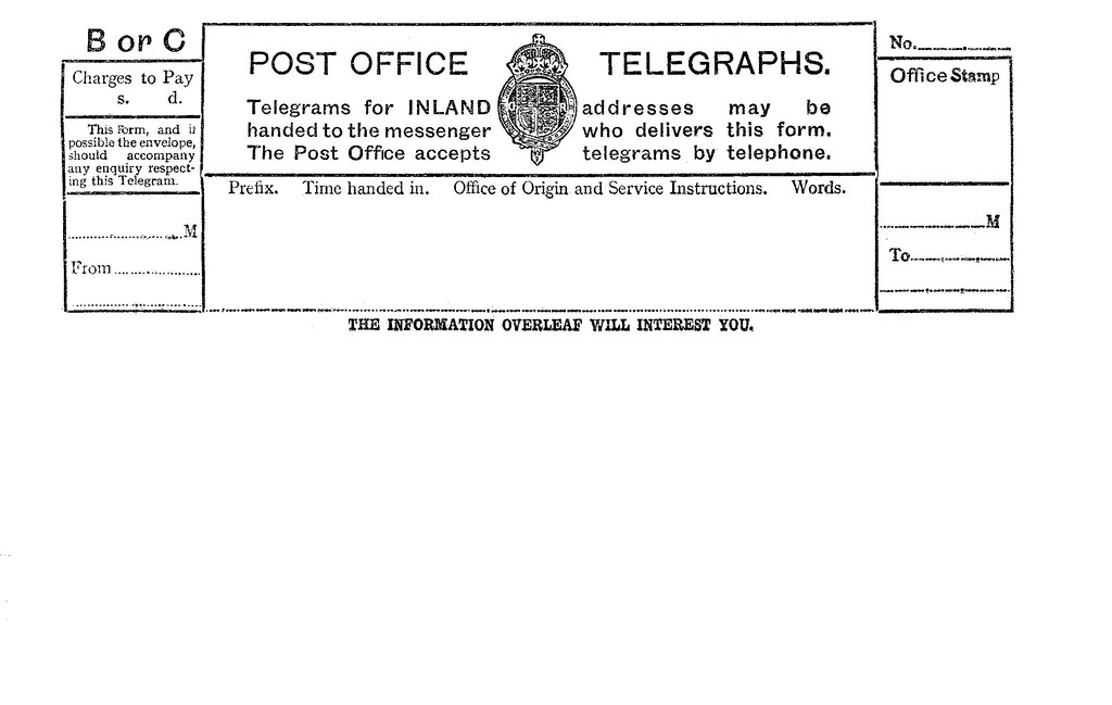 1930 Blank Telegram Front | these where filled in pencil BTW… | Flickr