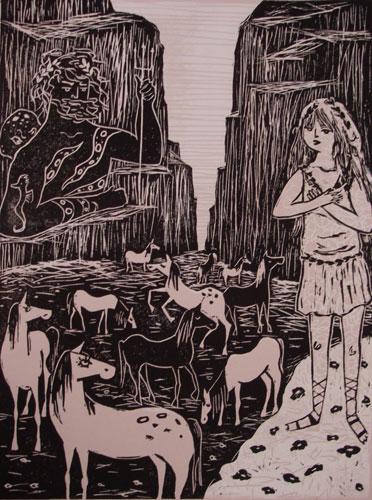 Poseidon And Demeter By Amanda Kindregan 11 X 15 Vinyl