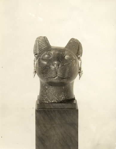 The smiling Egyptian cat-goddess Bast | by UIC Digital Collections