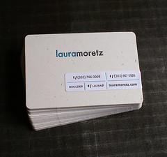 Letterpress Business Card: Moretz (front) | by smokeproof