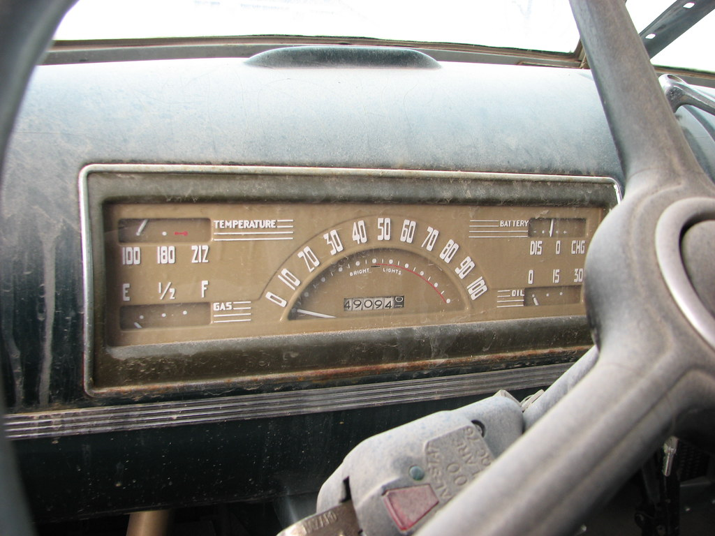 New Chevy Truck >> A 1940 CHEVY TRUCK DASH IN FEB 2010   The metal dashboard.   RICHIE W   Flickr