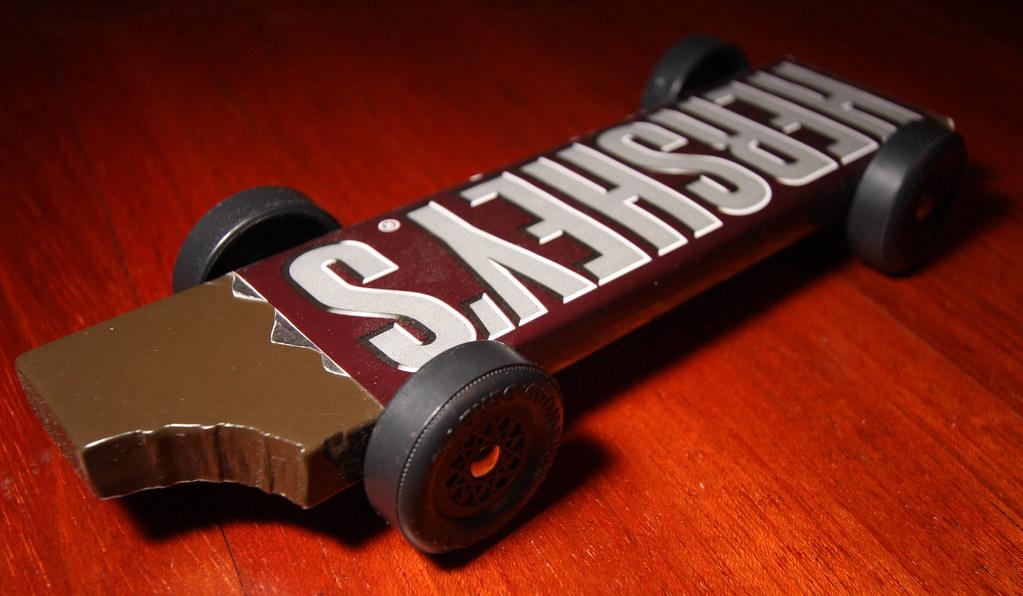 Hershey s chocolate bar pinewood derby car