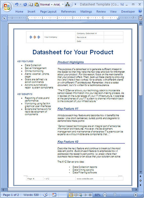 Datasheet For Technical Product - Ms Word | These Datasheet … | Flickr