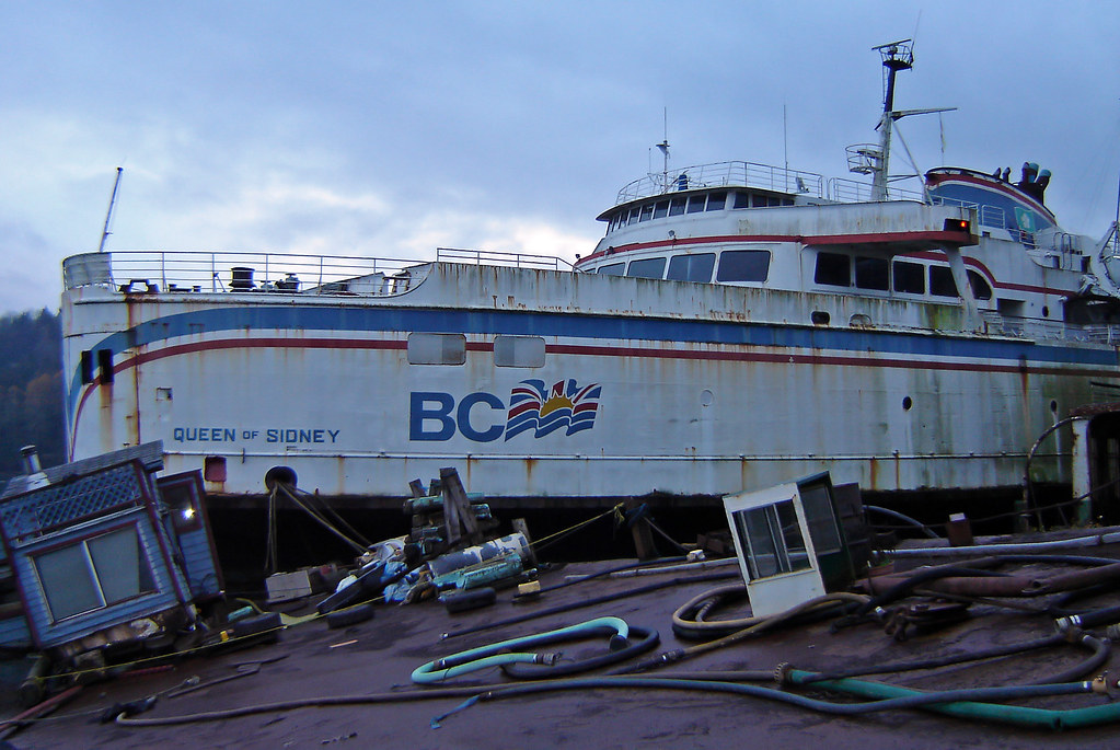 Bc Ferries Queen Of Sidney At Silverdale On November
