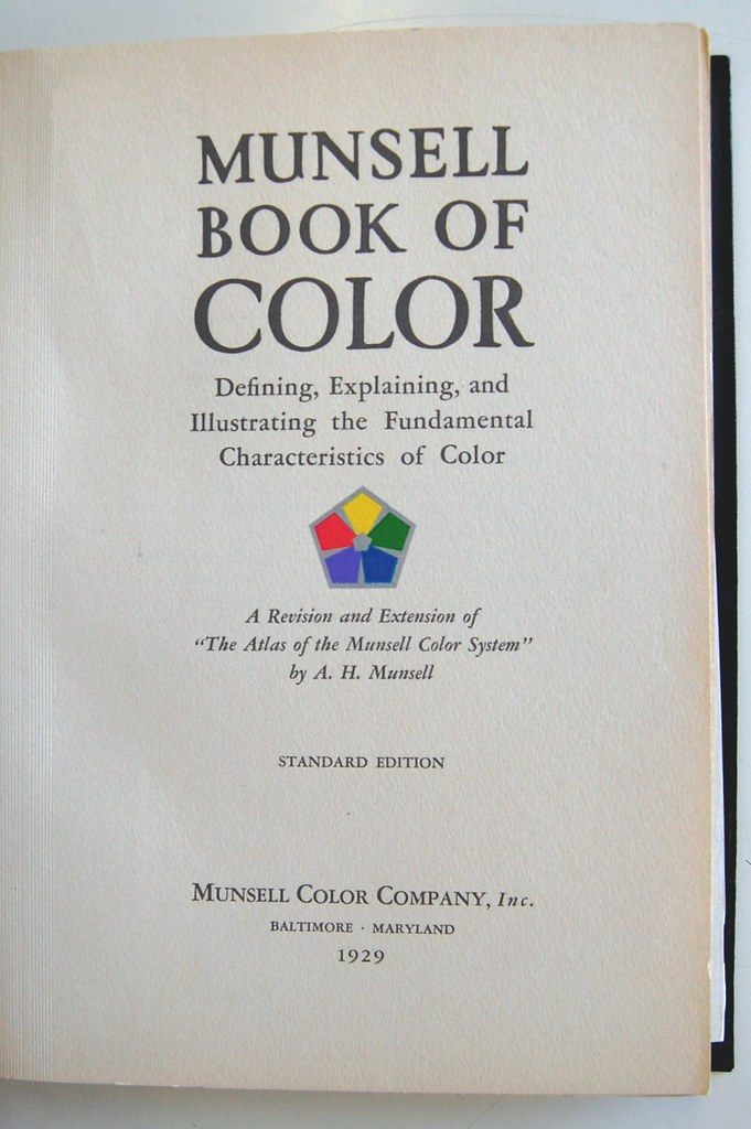 Munsell Book of Color | Title page of Munsell Book of Color,… | Flickr