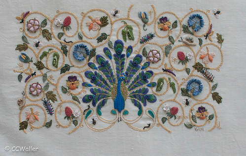 Embroidery Design Peacock Free