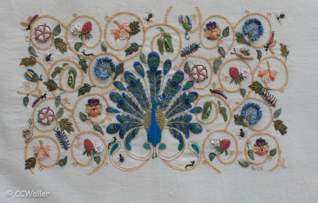 Peacock Elizabethan Embroidery Stitched By Vanda Waller M Flickr