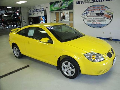 2009 bright yellow pontiac g5 at stark automotive on brade