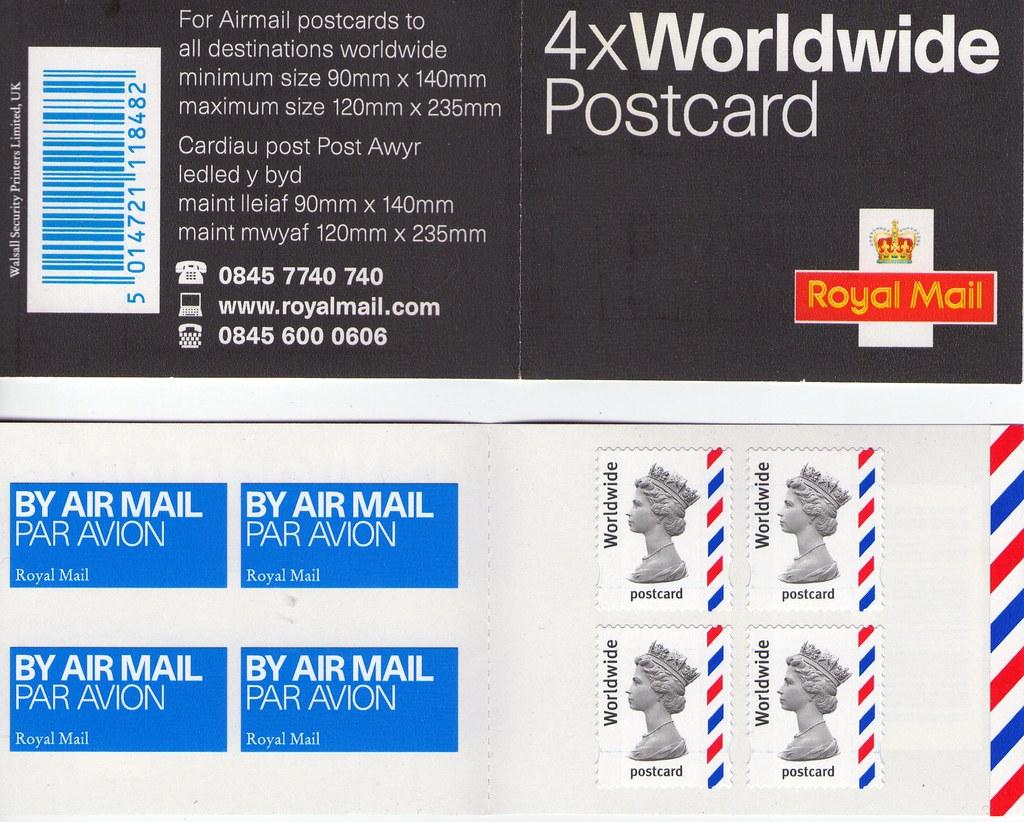 uk non denominated international postcard stamp booklet flickr