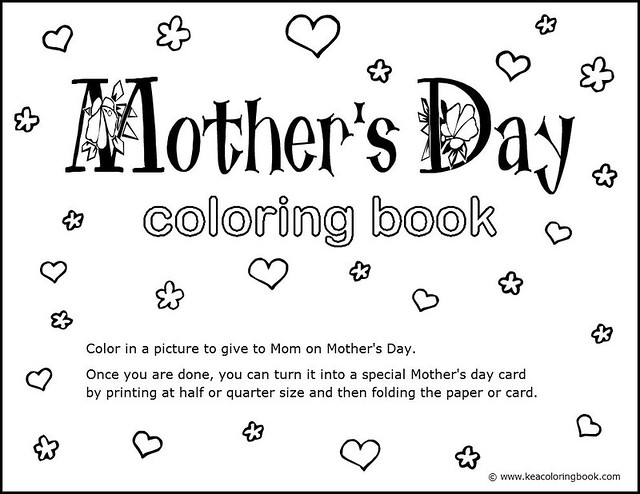 Mothers Day Coloring Book  Title Page  Title page for the   Flickr