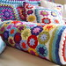 Rainbow Flower Crochet Bolster