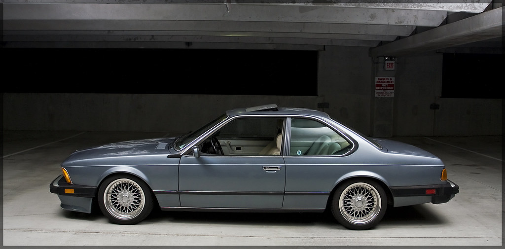 Cj Bmw E24 L6 Cirrusblau Style 5 Bbs Rs Flash Side Tall