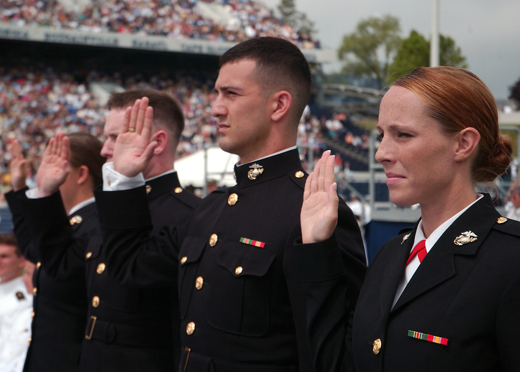 The corps 39 newest officers take the oath of office flickr - Officer training school marines ...