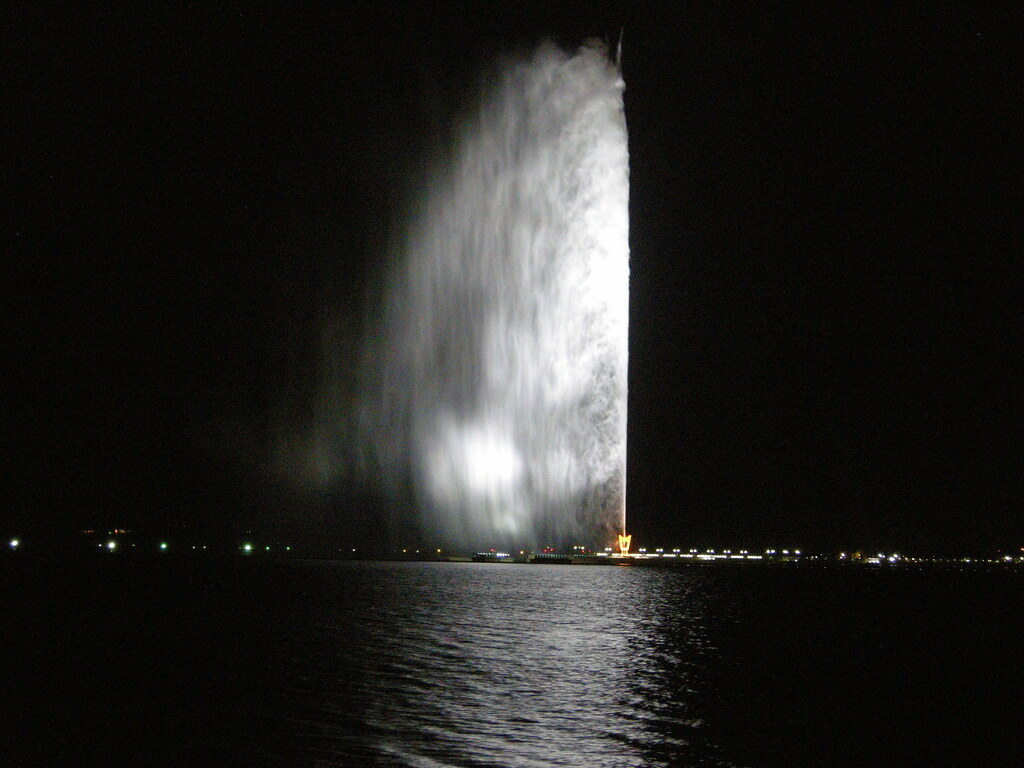 King Fahd Fountain in Jeddah   This is reported to be the ...