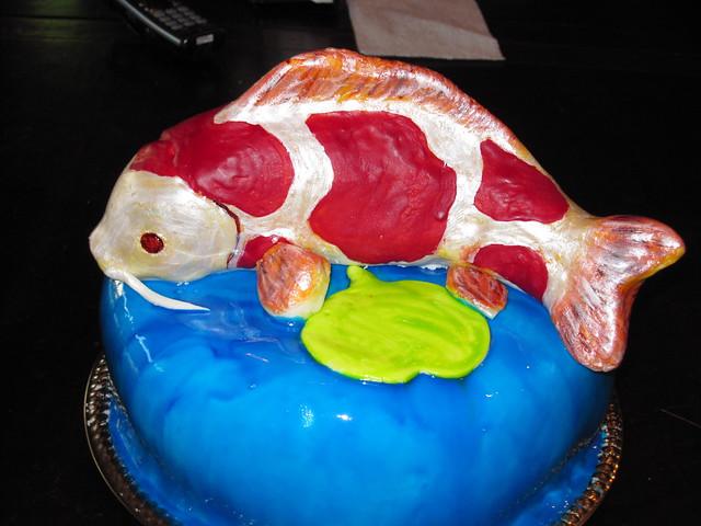 Koi fish ice cream cake flickr photo sharing for Fish ice cream